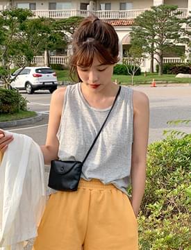Striped basic sleeveless