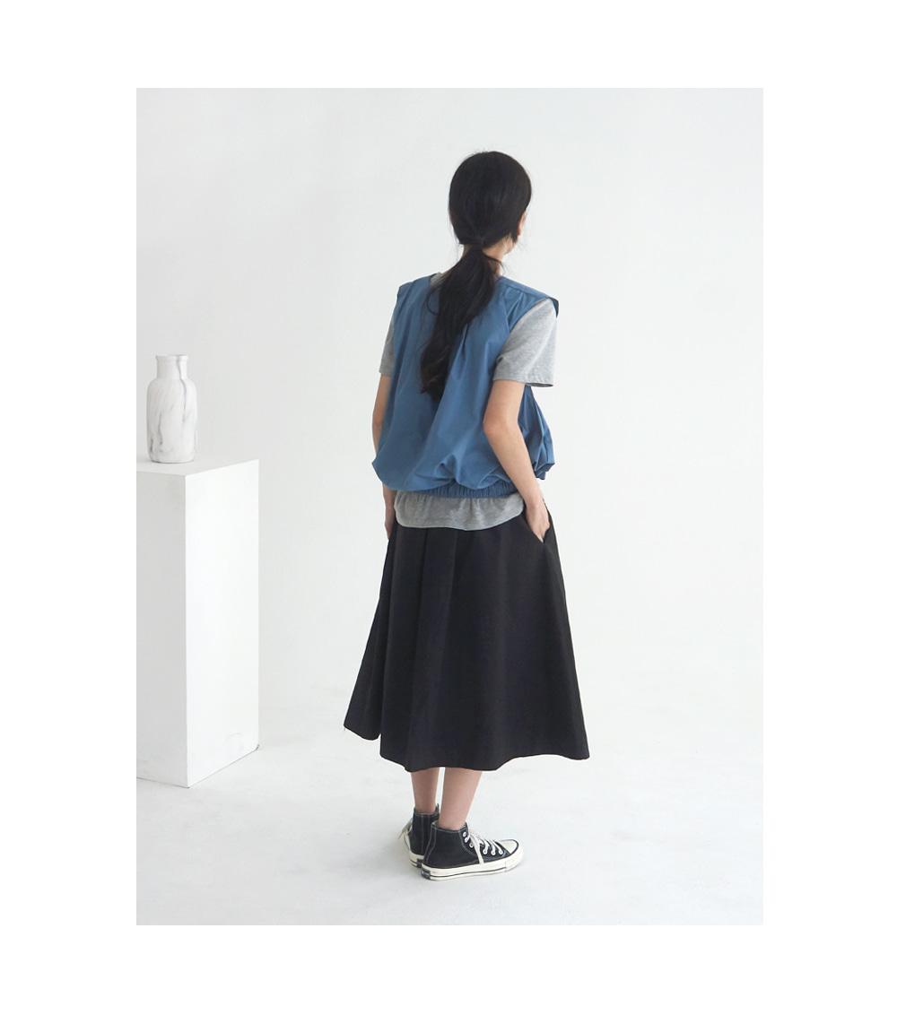a zipper long flare skirt