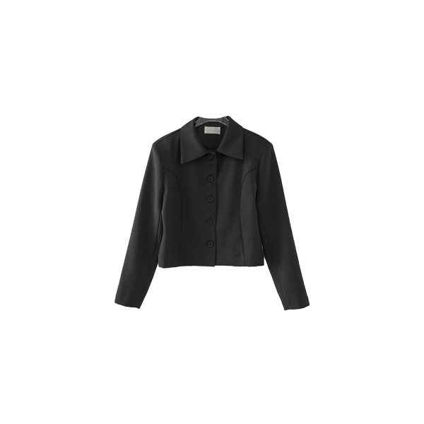 wide collar cropped jacket