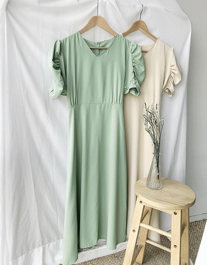 Shirring Holic Dress 洋裝