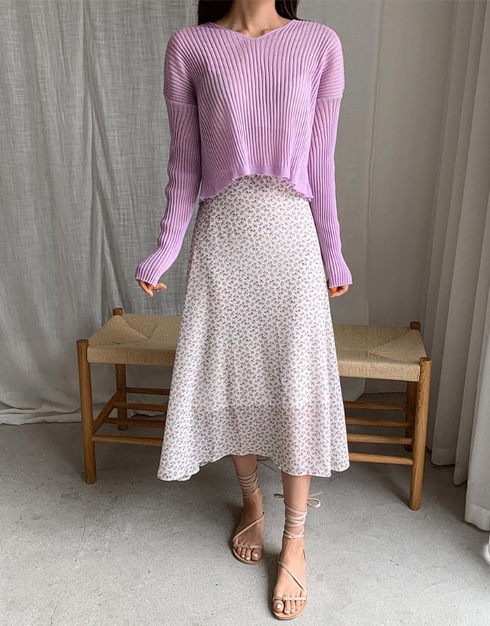 Planet Chiffon Skirt