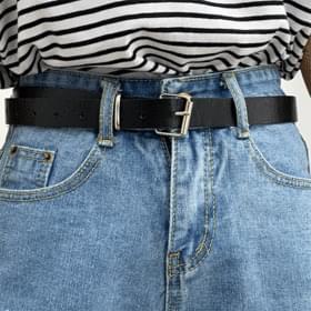 Den-cutting hemmed short pants