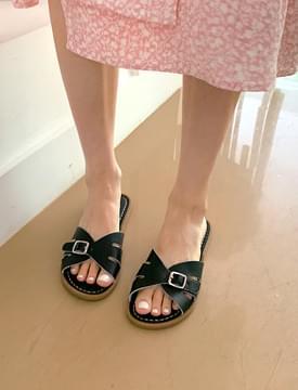 Maroni Buckle Flat Slippers