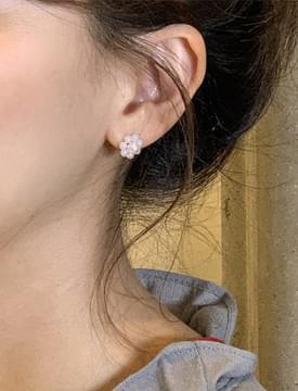 Flower Pearl & Ring Earring SET イヤリング