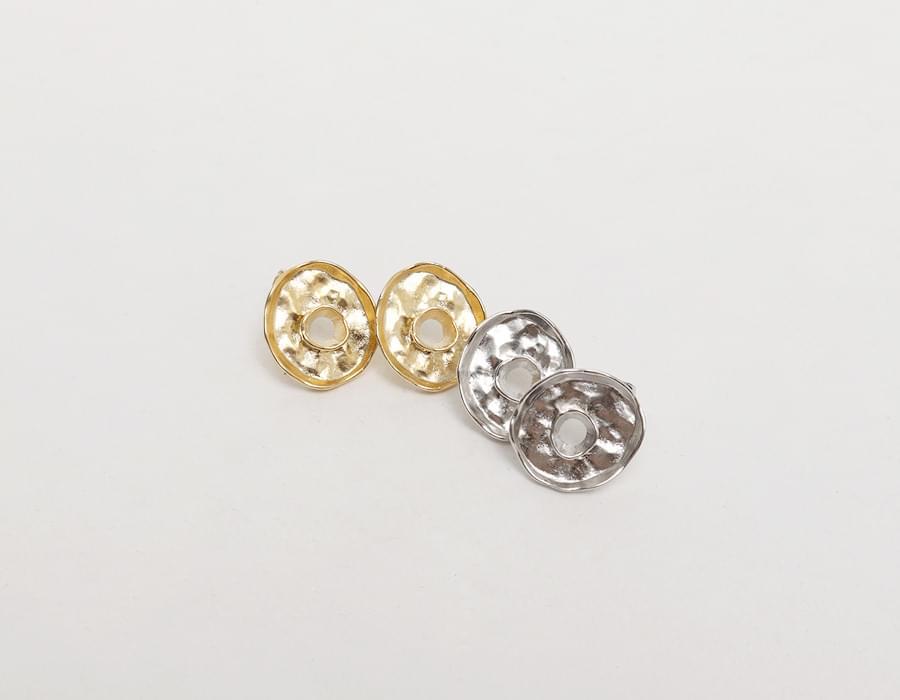 Vintage simple coin earring_K
