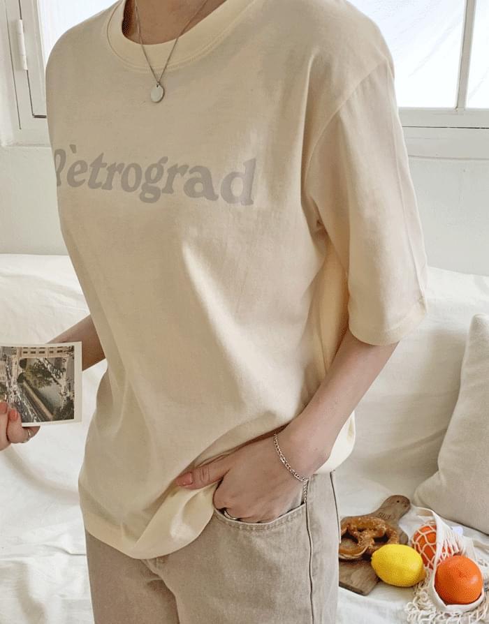 Mood pastel lettering short sleeve t-shirt