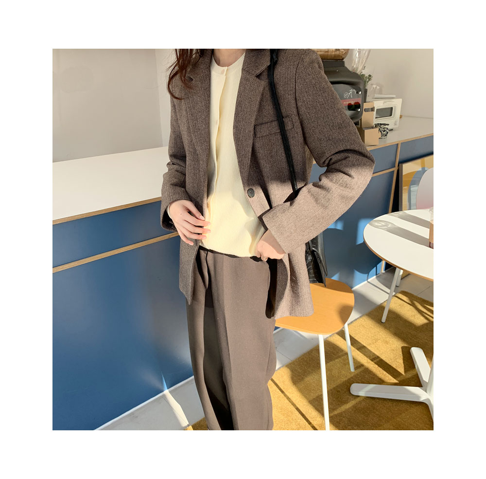 mose wool napping herringbone jacket