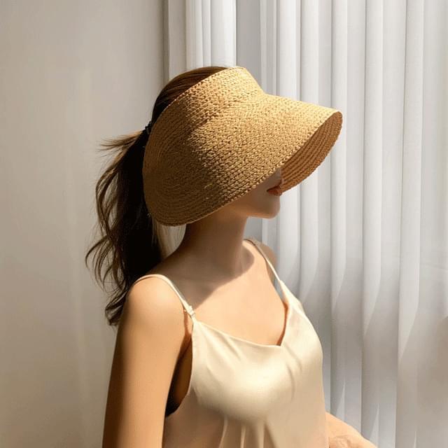 라탄 대챙 썬캡 모자