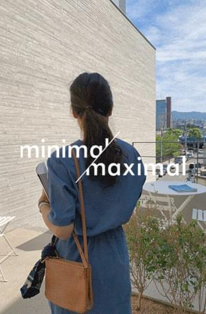 MMMM/ Indigo string linen dress