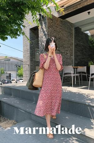 Marmalade♥.Vacance Line Wrap Flower Dress