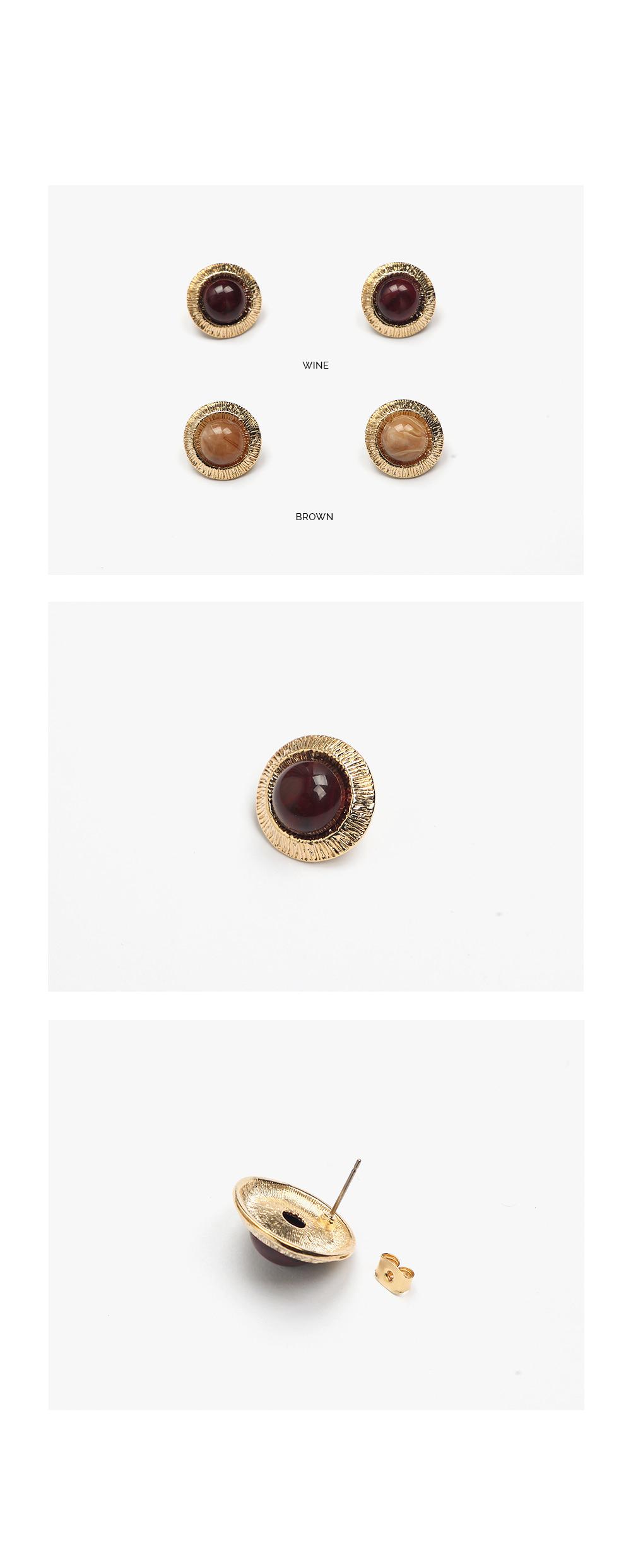 cherry gold earring