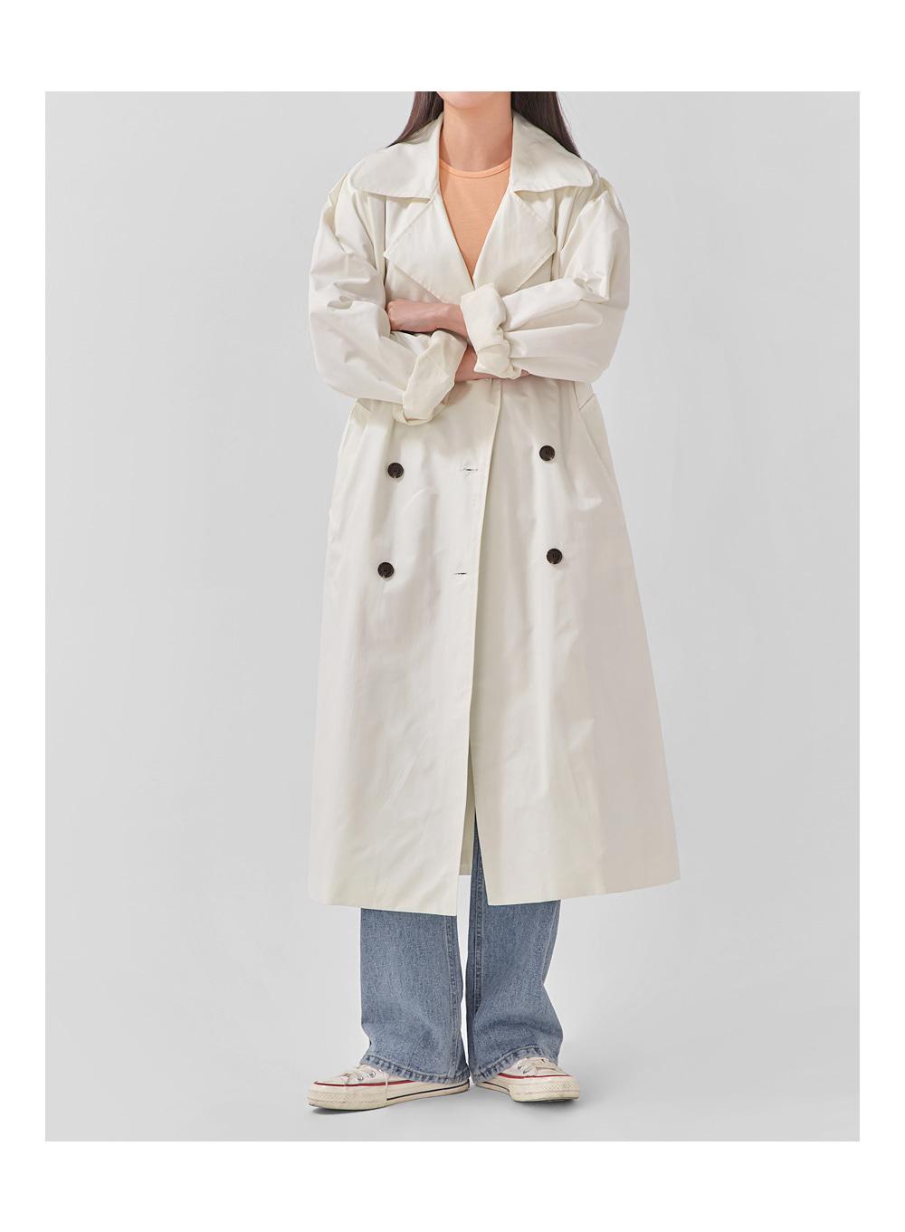 rose cape trench coat