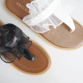 Lace pecking slippers