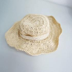 Bonnet lace string straw hat cap