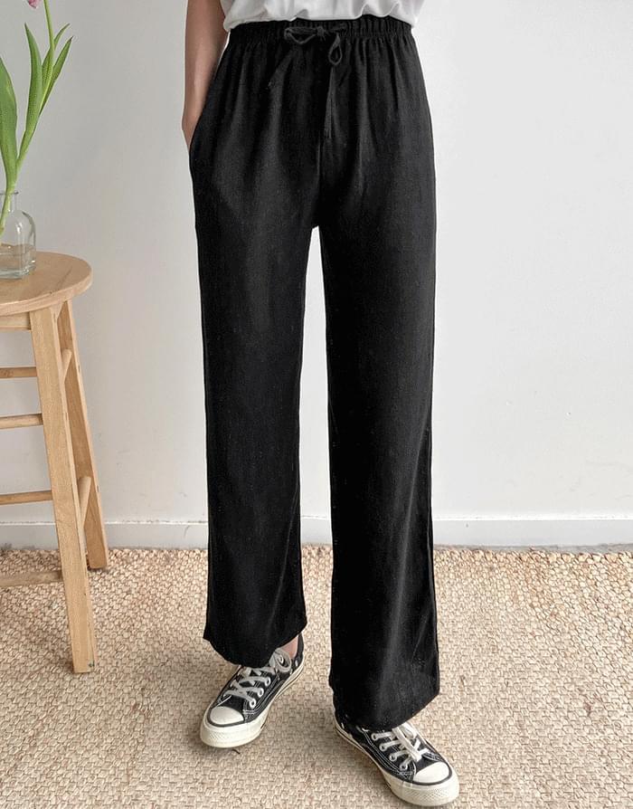 Slavic linen thong pants