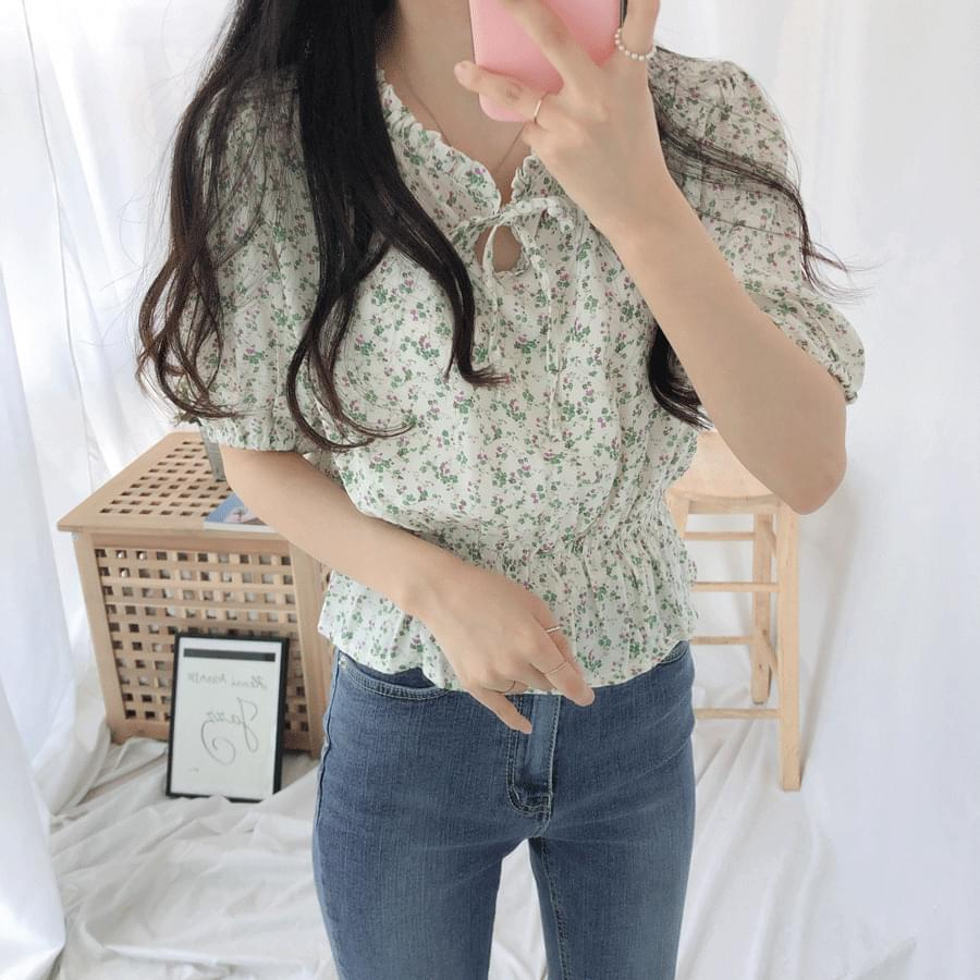 Casey Thong Ribbon Blouse