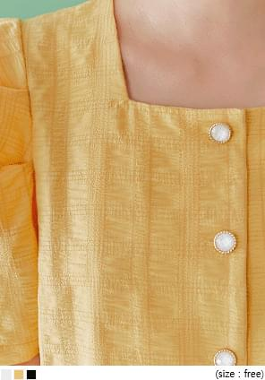 JEWELRY WRINKLE PUFF 1/2 BLOUSE