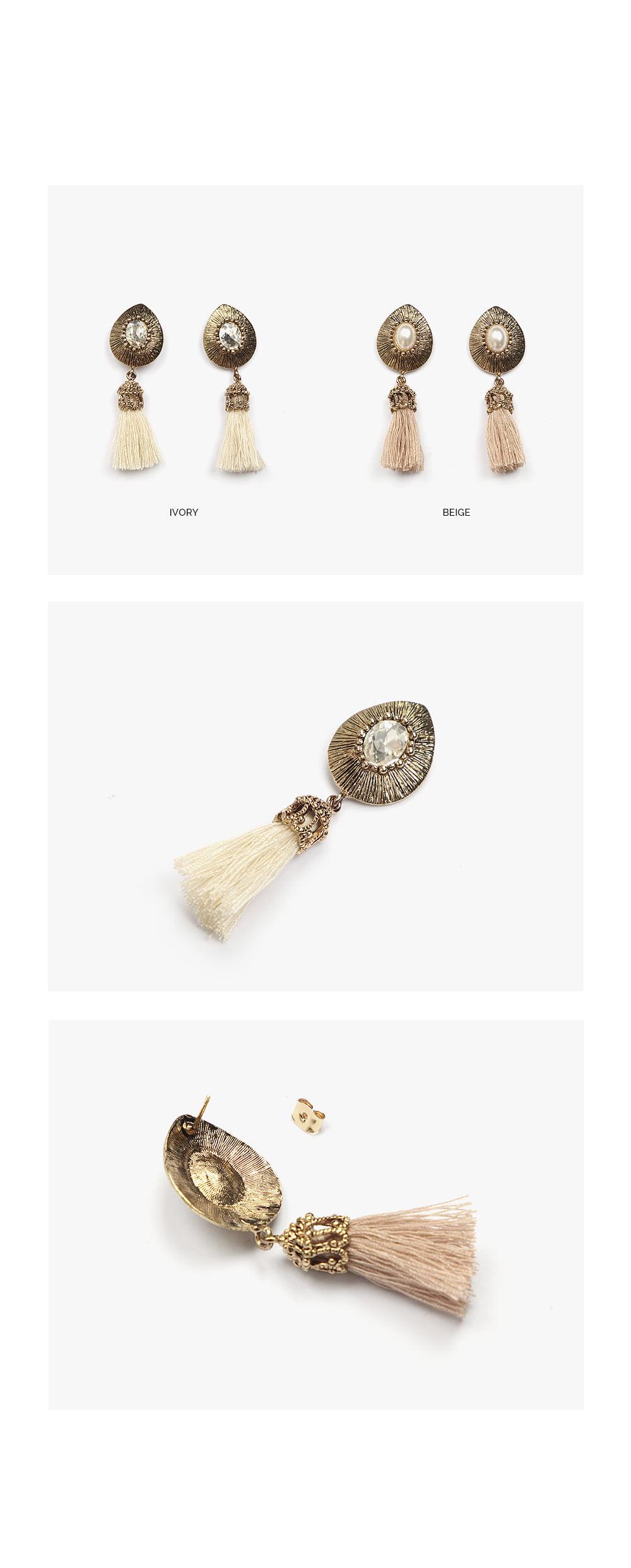 tassel vintage earring
