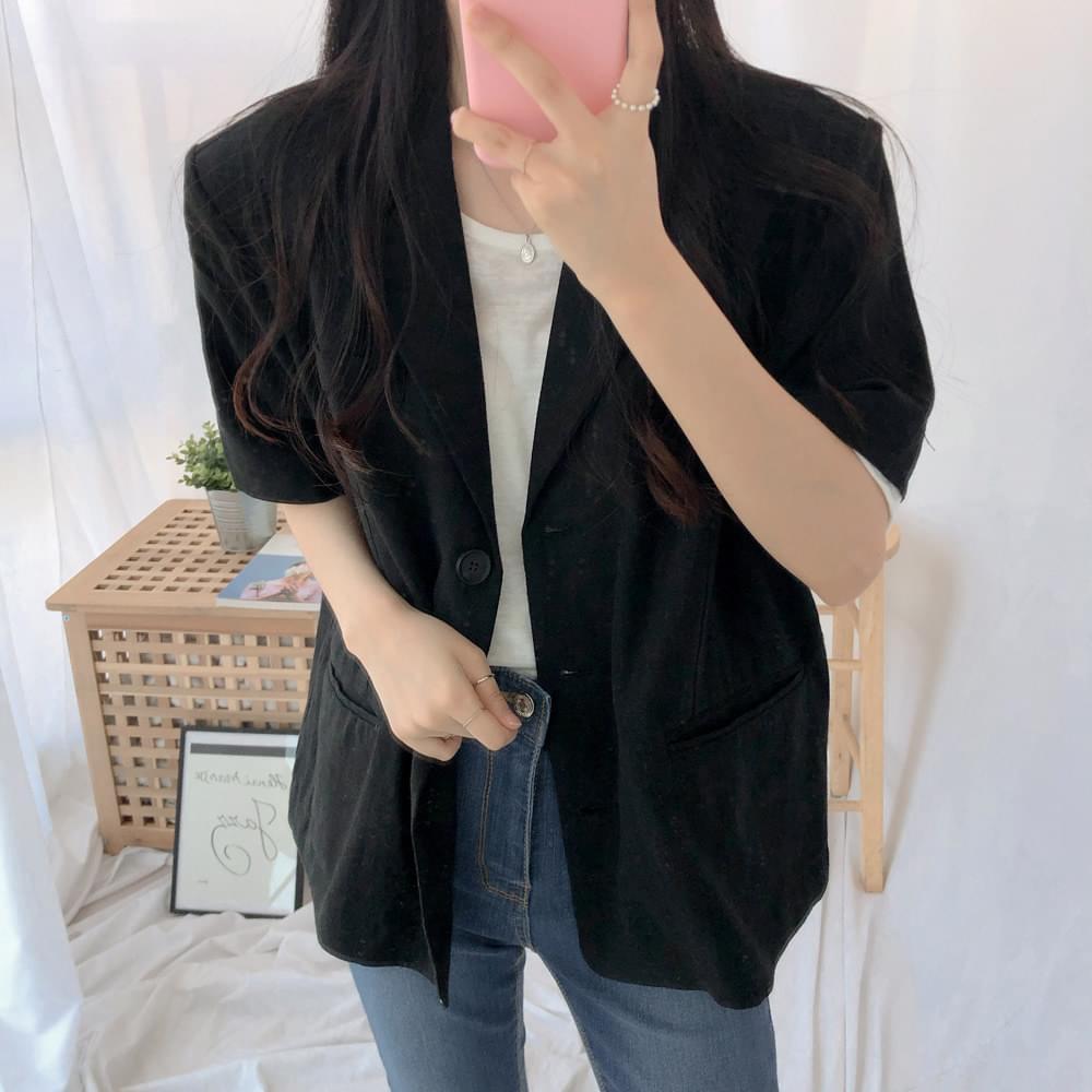 Notting Hill Linen Short Sleeve Jacket jacket
