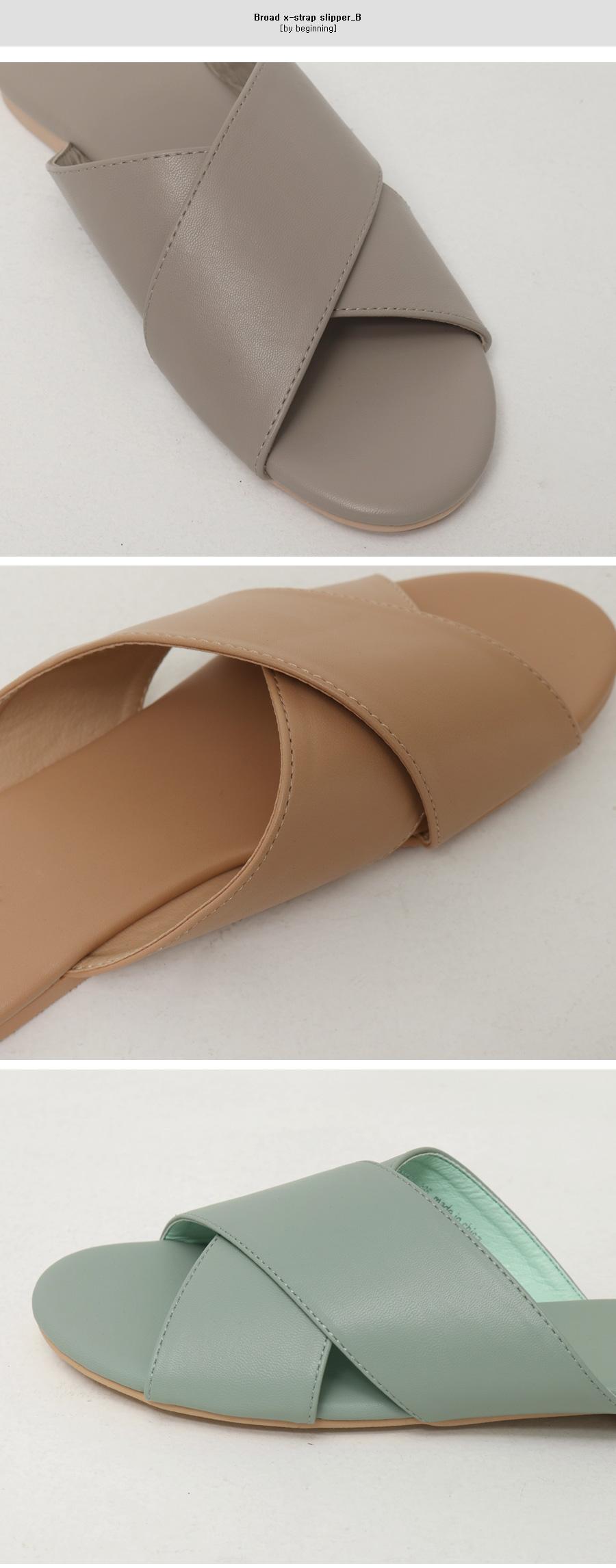Broad x-strap slipper_B