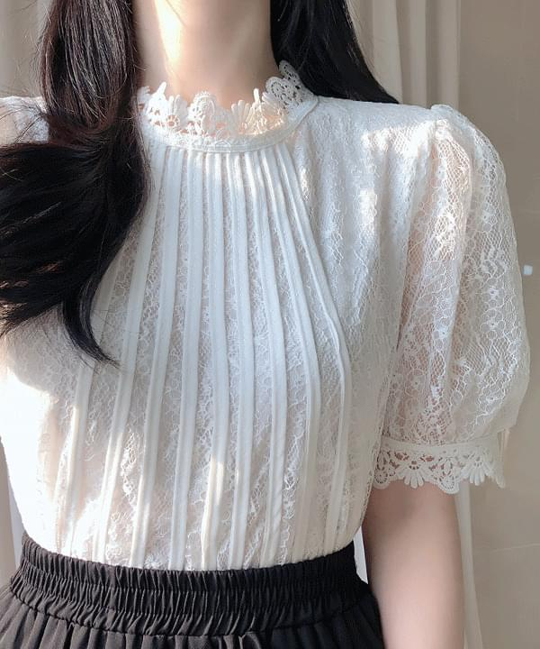 New discount ♥ Ria race puff blouse ブラウス
