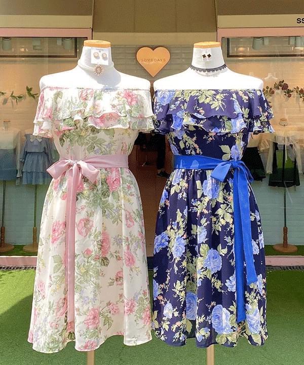 Exclusive, New Discount ♥ Jenner Flower Shoulder Dress ワンピース