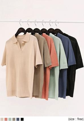 CRUDI BASIC COLLAR 1/2 KNIT