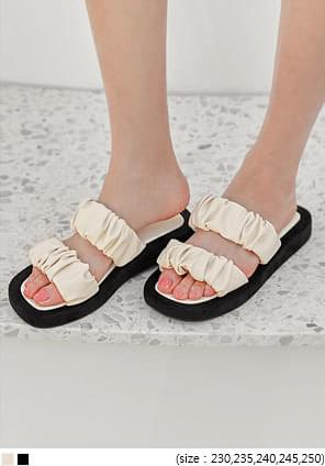 CITY SHIRRING SLIPPER