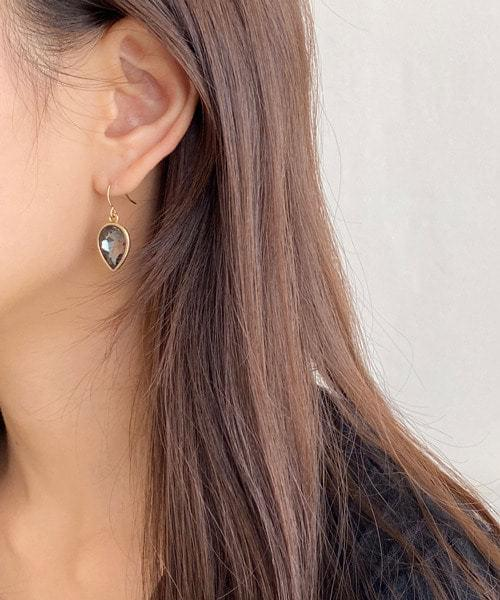 cubic drop earring