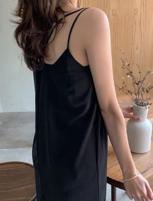 Double Strap Sleeveless Long Dress