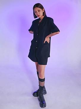 Loose Fit Short Sleeve Jacket