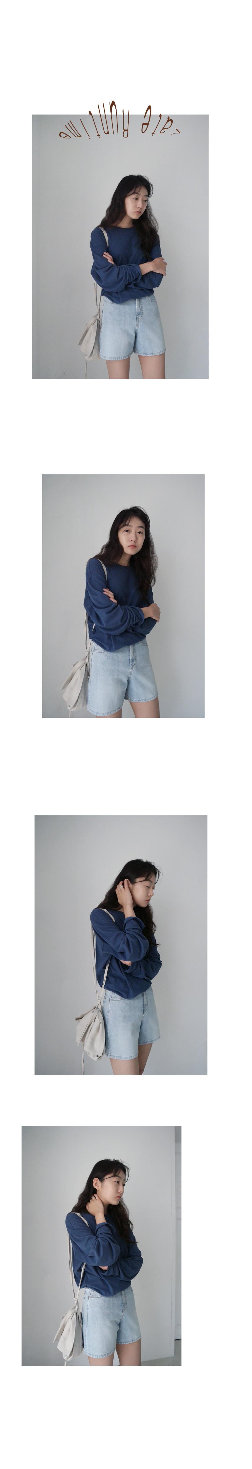 basic mood denim short pants