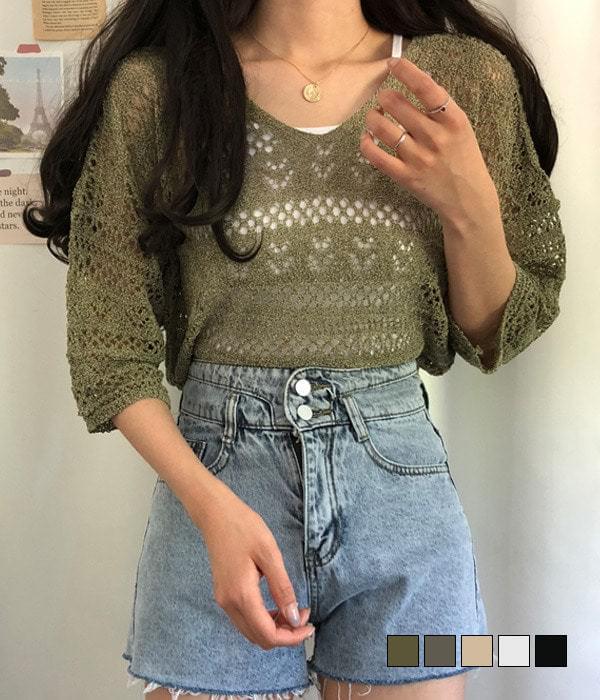 SCSI V punching knit 針織衫