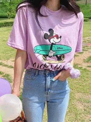 Surf Mickey T-shirt 牛仔褲
