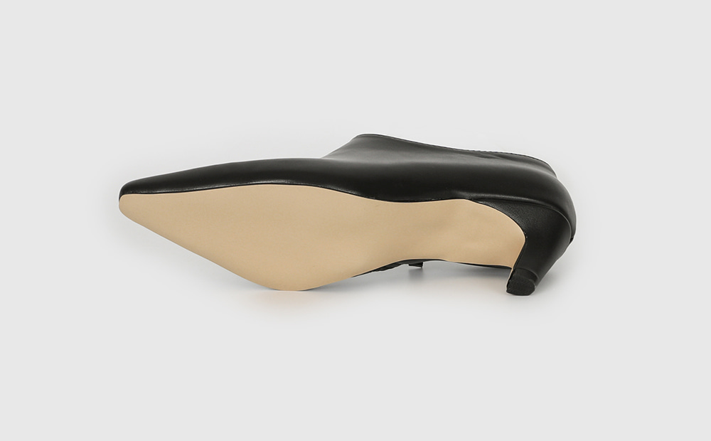 Modernism middle heel ankle boots