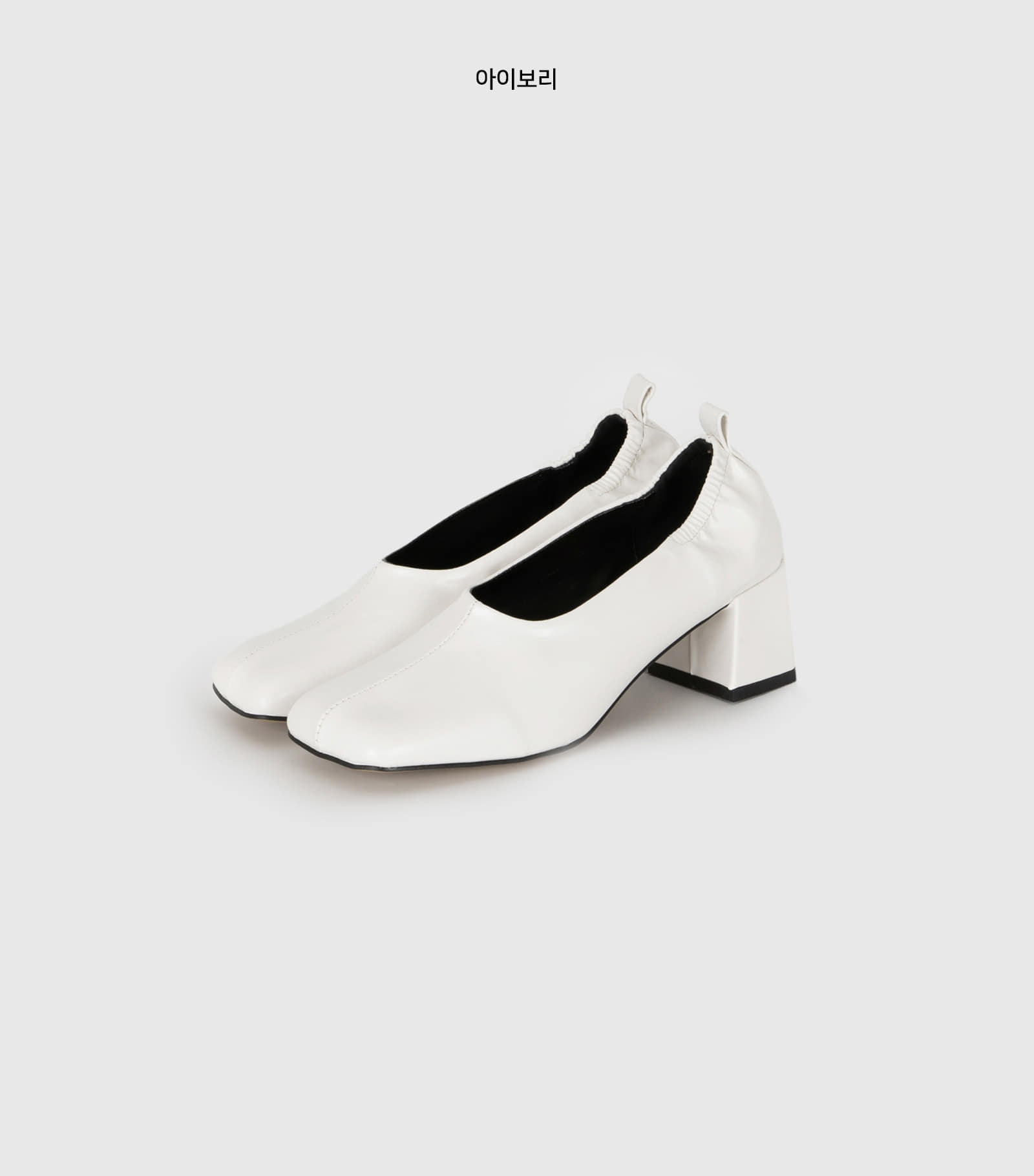Wrinkle banding middle heel pumps