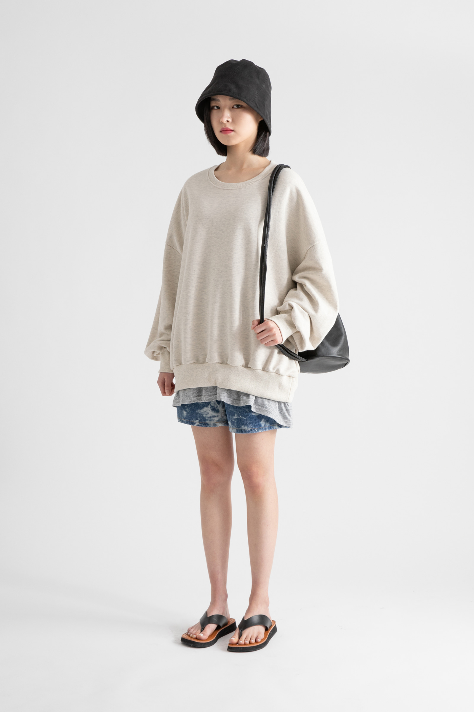 Cozy Over Tencel V-neck T-shirt