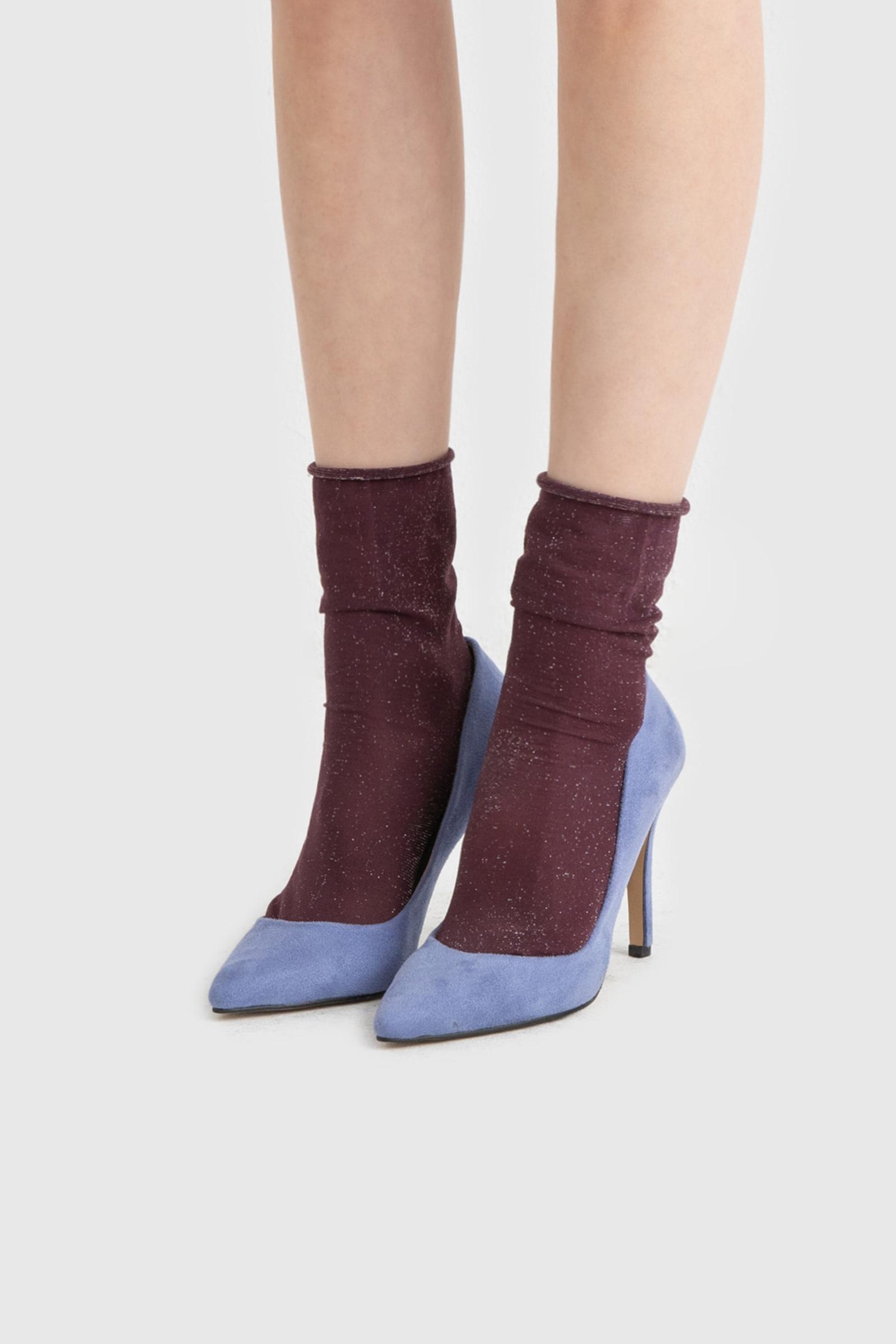 Party color stiletto high heel pumps