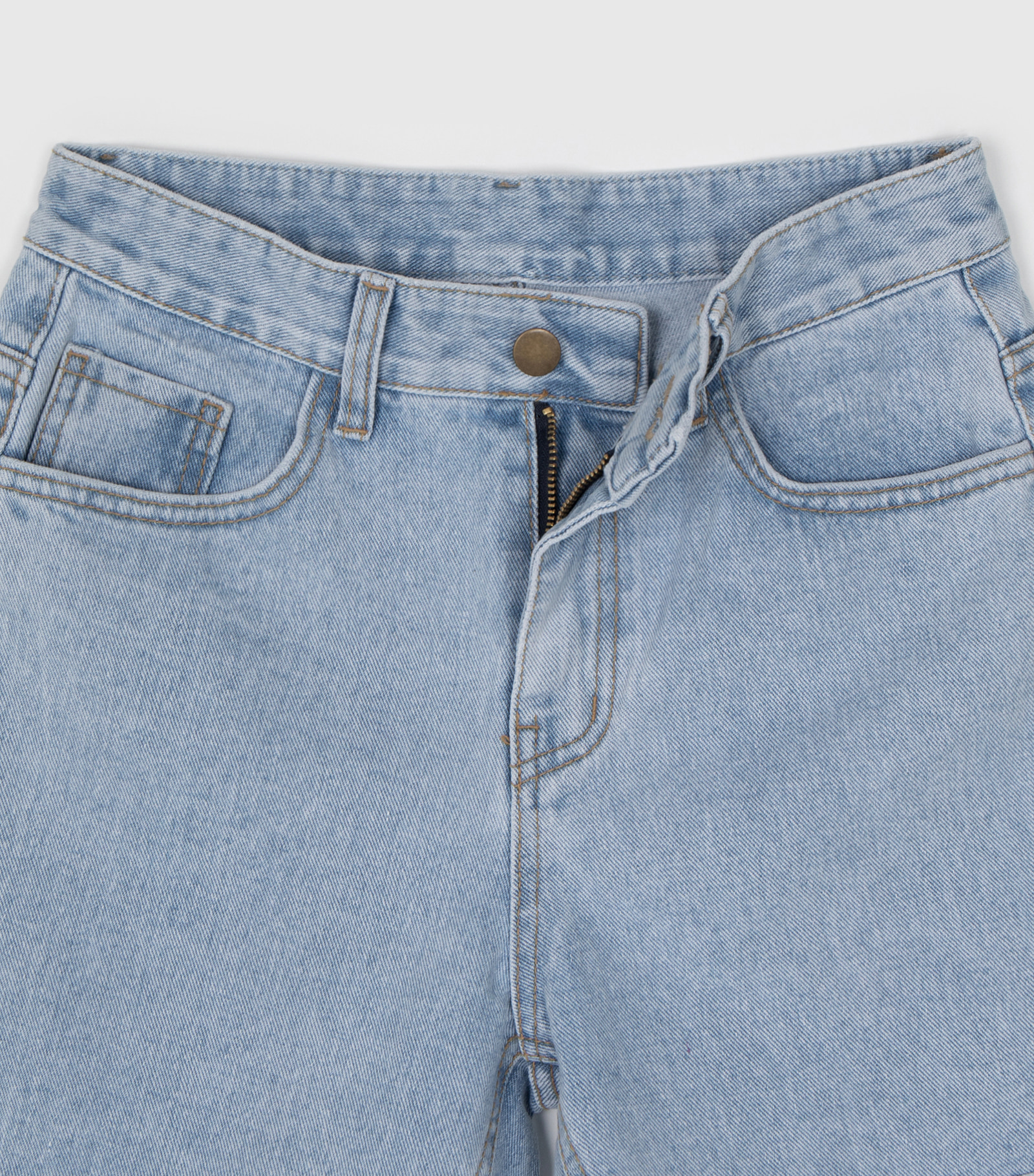 Daily natural half jeans