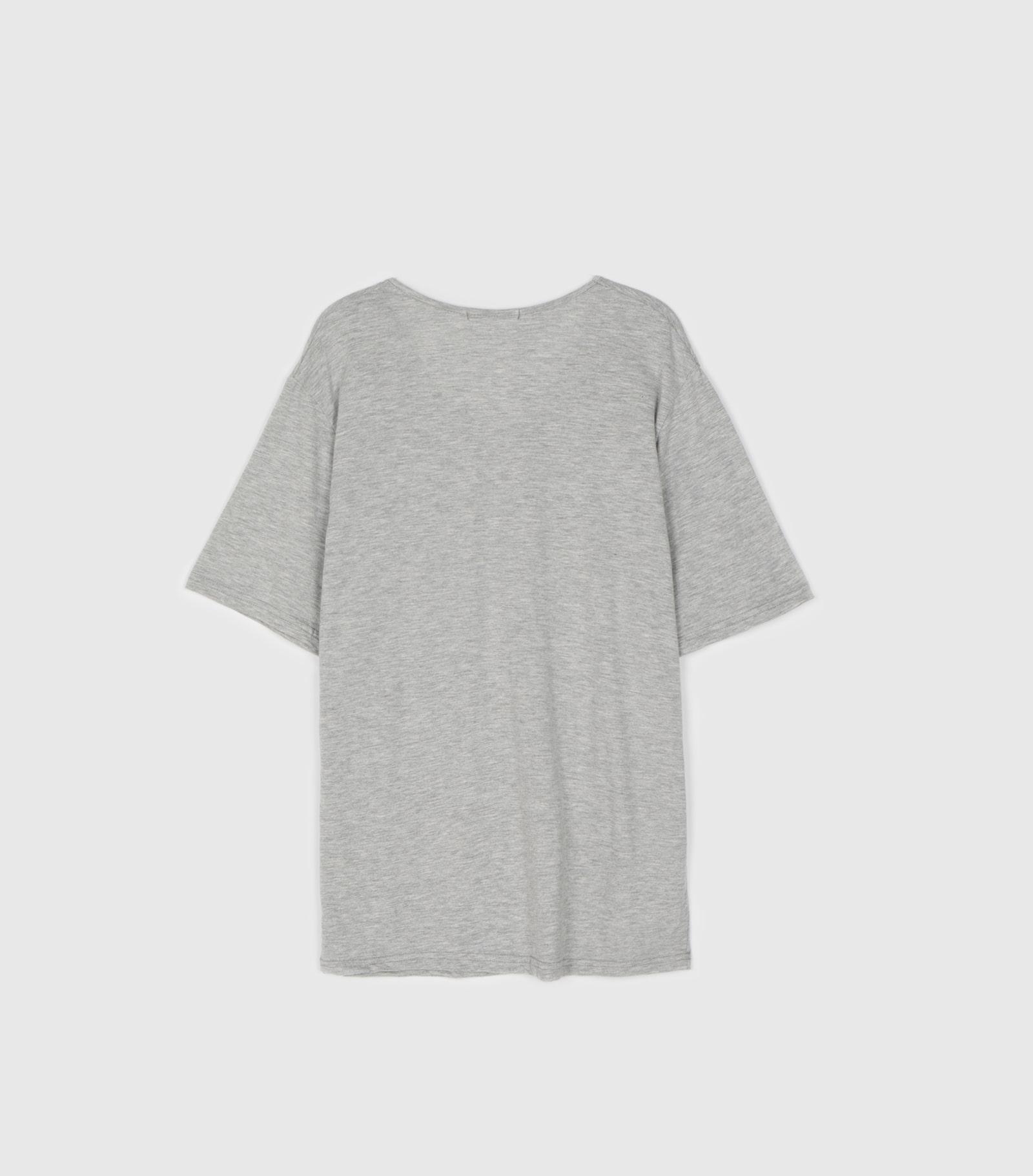 Simple modal round neck T-shirt