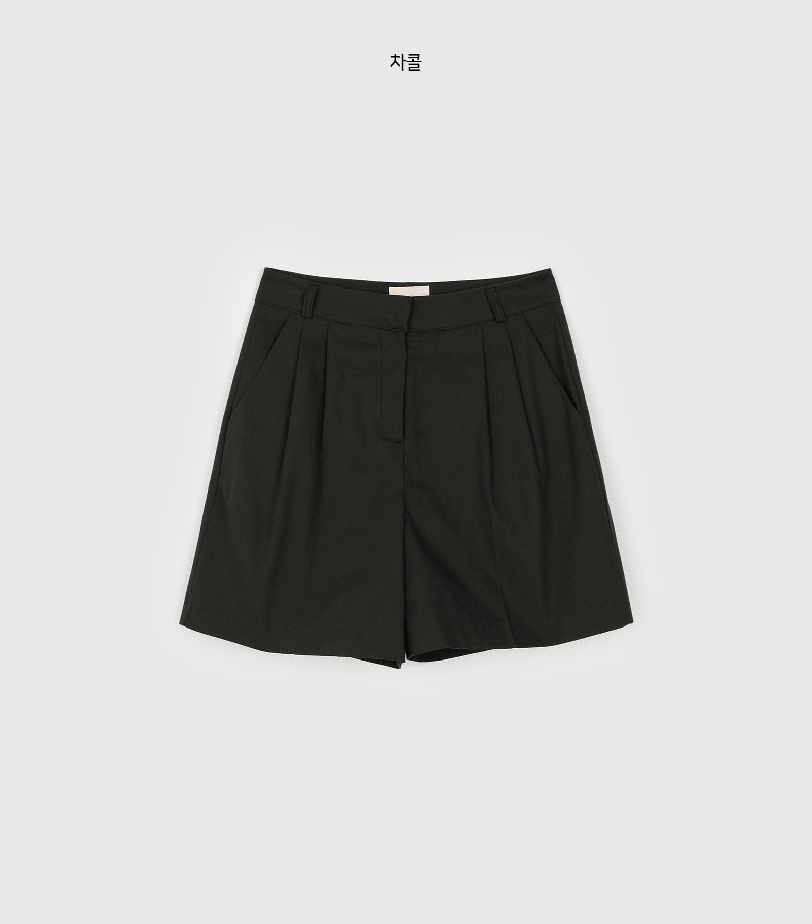 Crispy Tree Pintuck Cotton Shorts