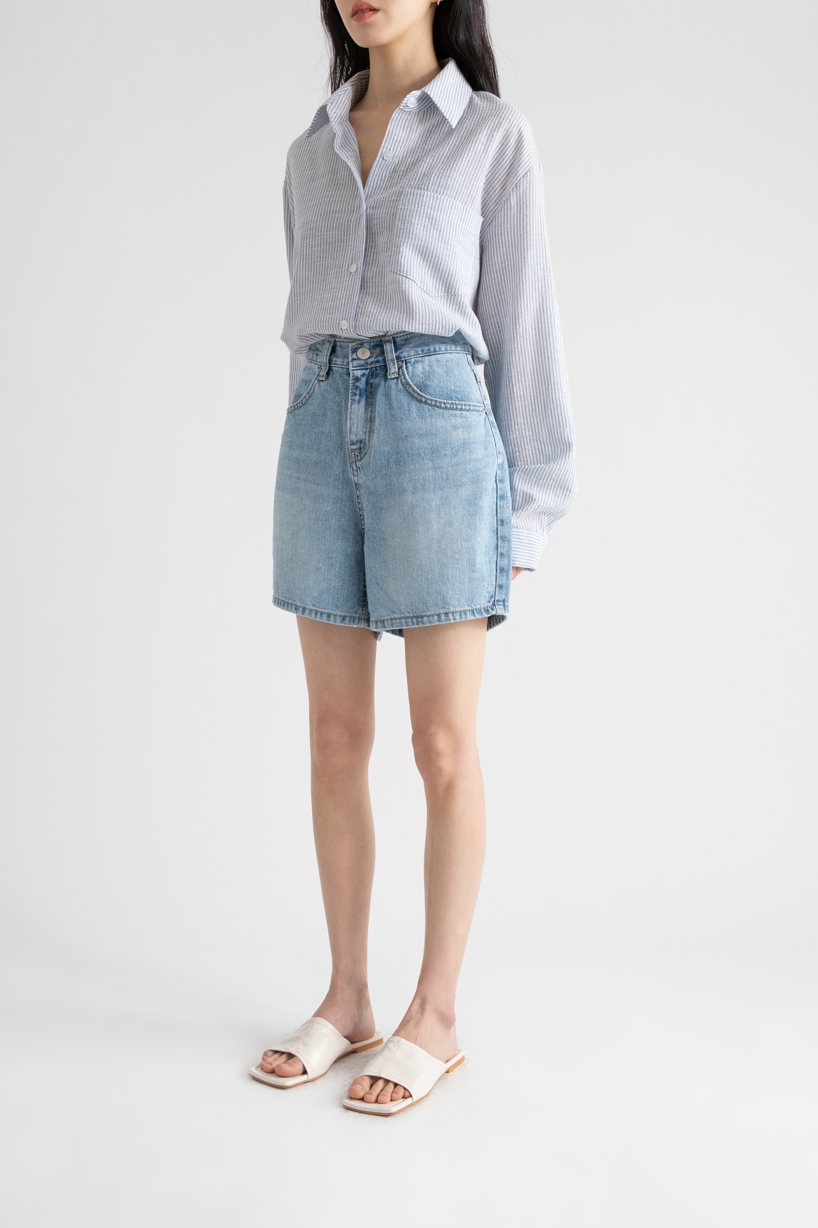 Snack high-rise half jeans