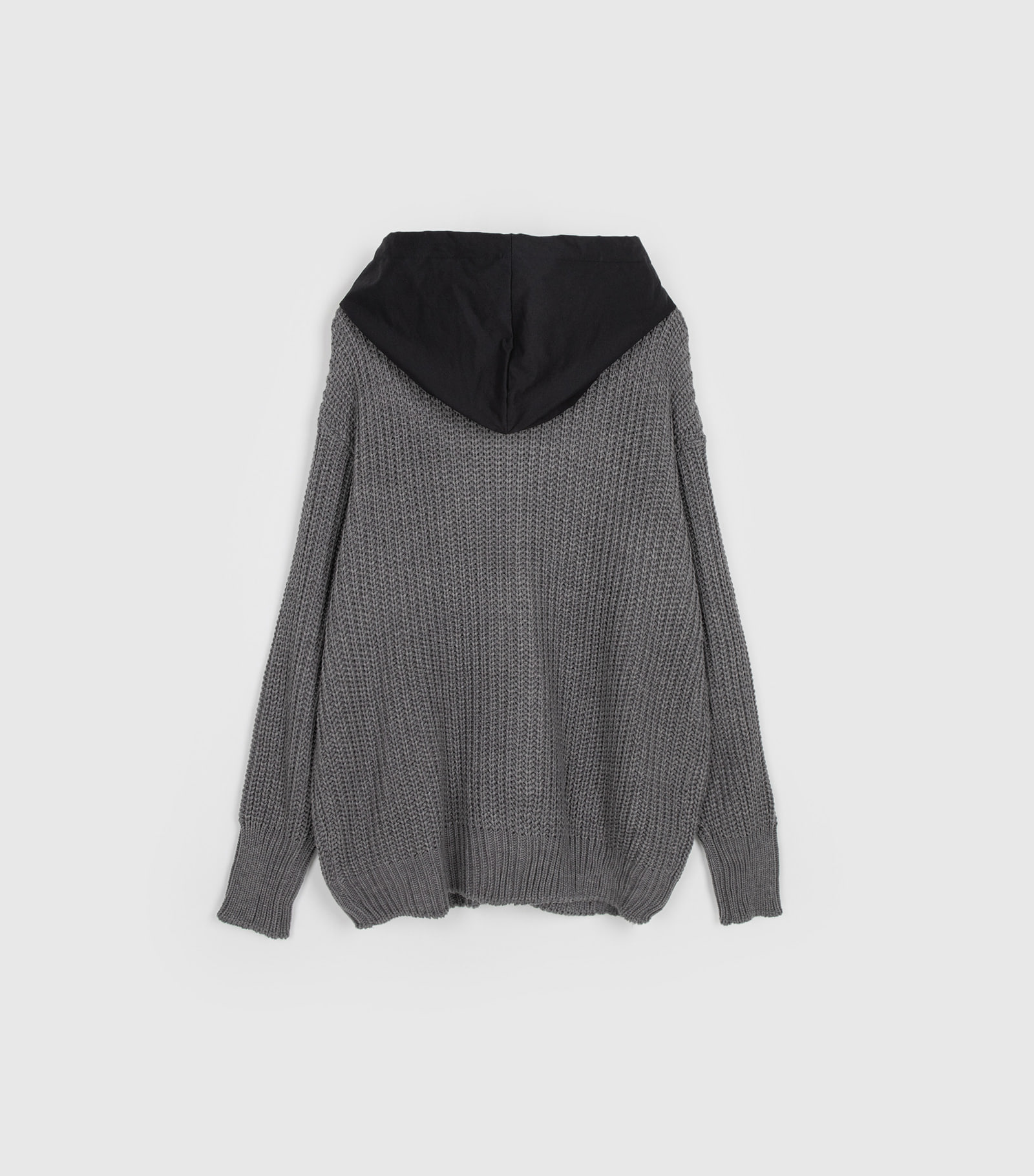 Muse-knit hooded zip-up sweatshirt