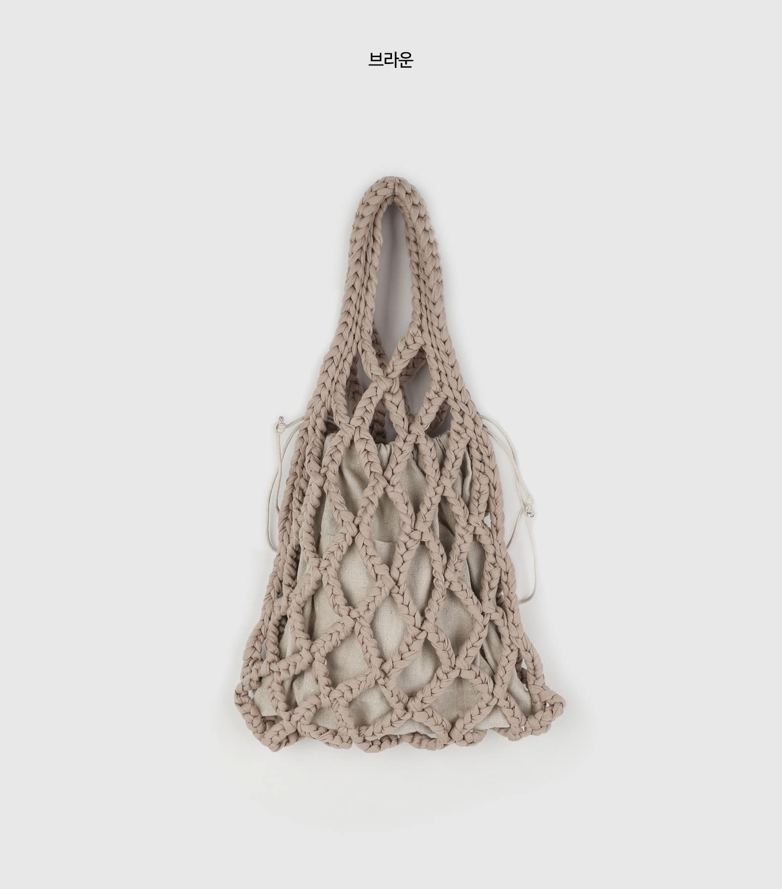 Early net pouch tote bag