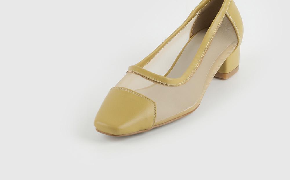 Cumming see-through low heel pumps
