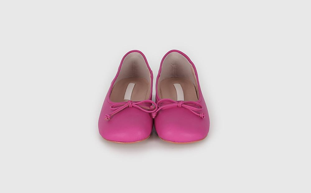 Baguette Silky Ribbon Flat Shoes