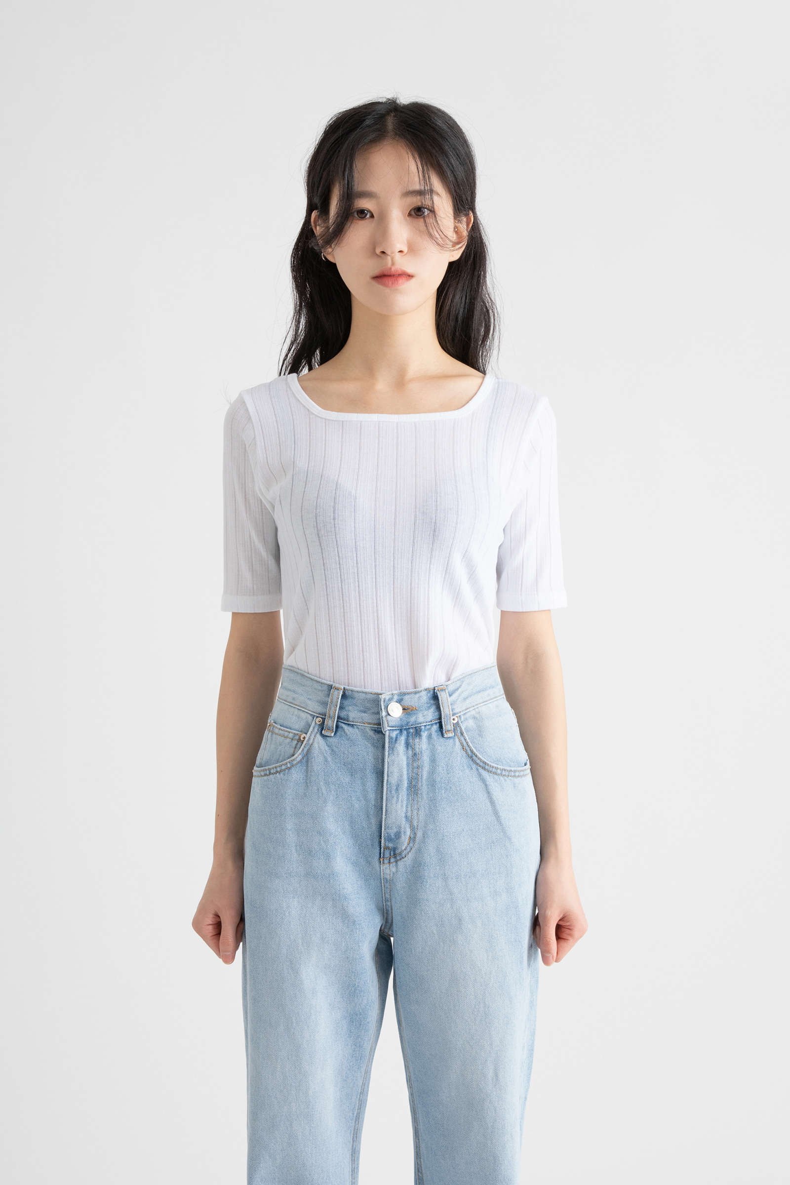 Mary Square Neck T-Shirt