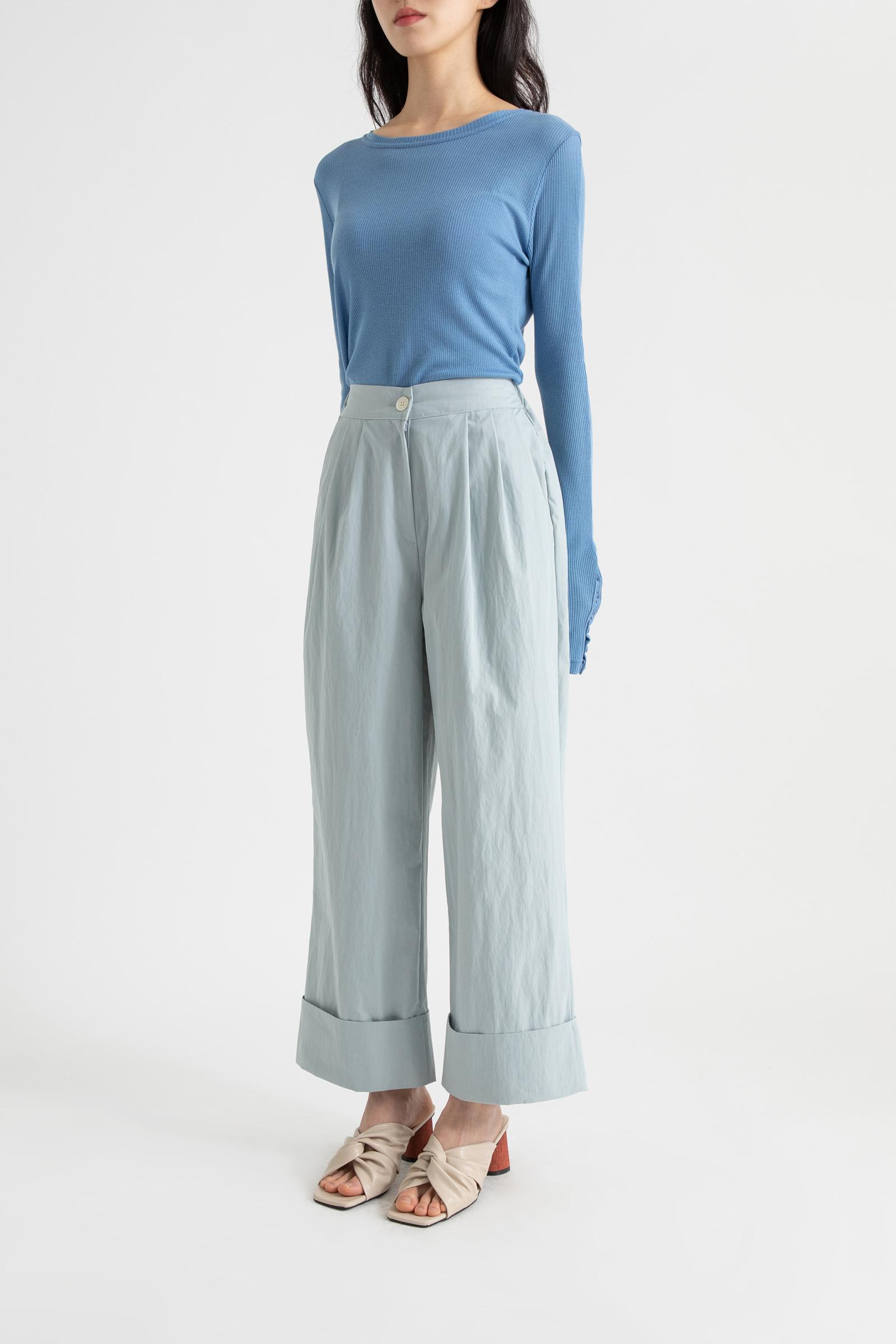 Roll-up point banding nylon pants