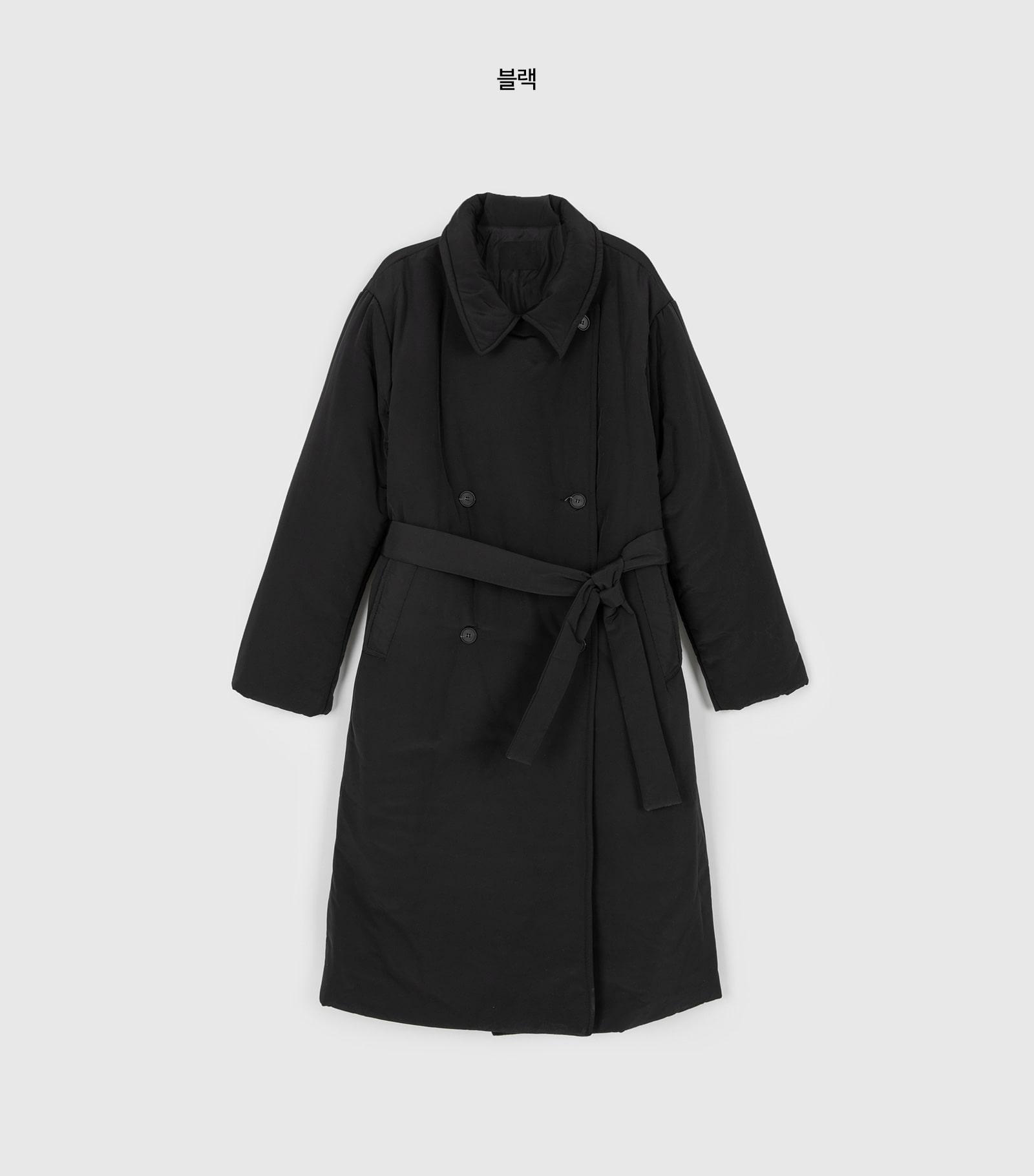 Strap padded coat