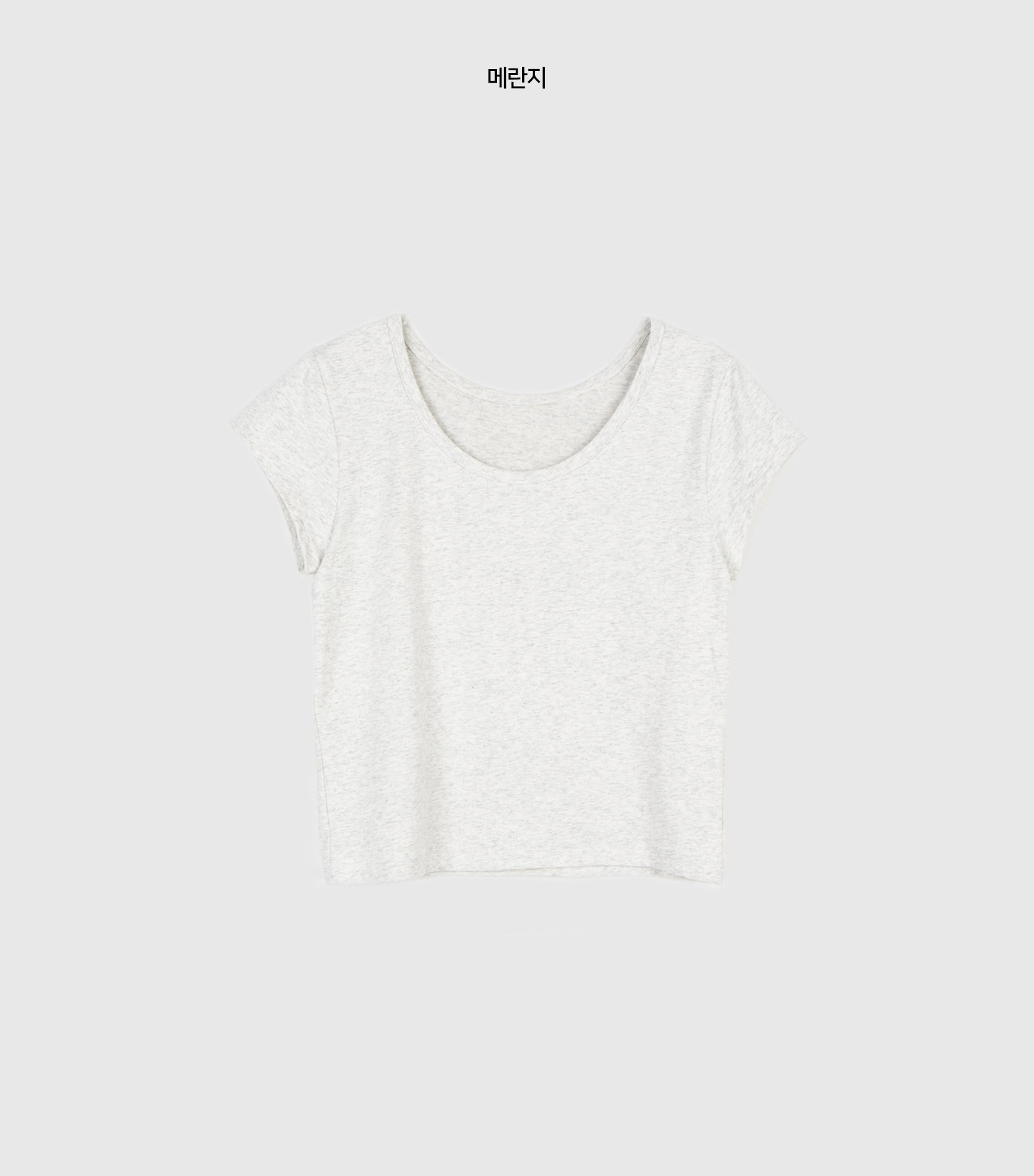 Mini crop round-neck T-shirt